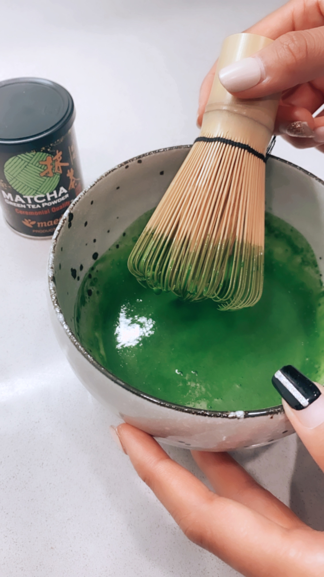 Who else loves an iced matcha latte? Curious how to make one? Los Angeles blogger My Teacher Got Style is sharing her tips here!